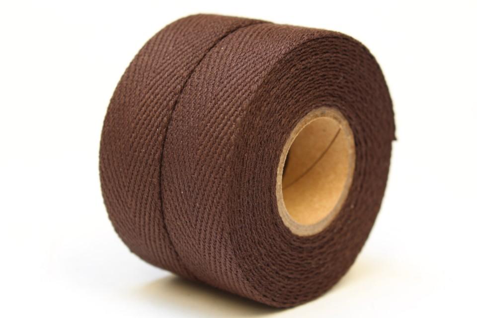 Textil Baumwolle Schokoladen Schwarz